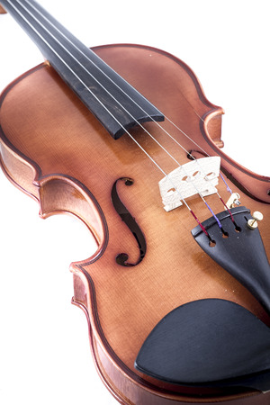 Classical, Violin front view isolated on white, vintage photo