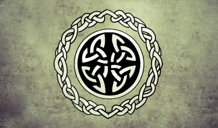 Celtic shield. Sketch of tattoo art, ornament design