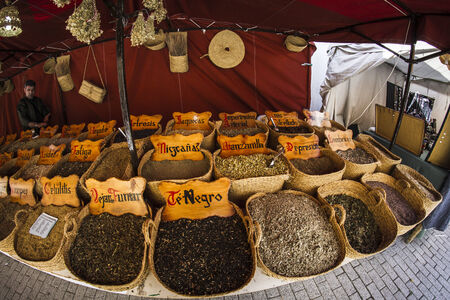 Herbal medicine, street vendor of medicinal herbs, wellness, spice