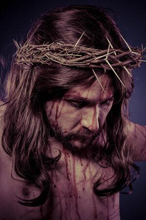 Bible, representation of Jesus Christ on the cross photo