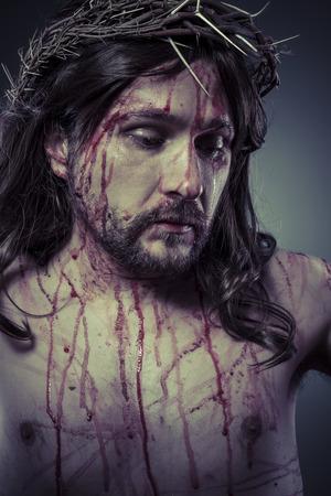 History, representation of Jesus Christ on the cross photo