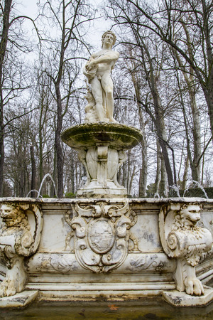 castile: Ornamental fountains of the Palace of Aranjuez, Madrid, Spain