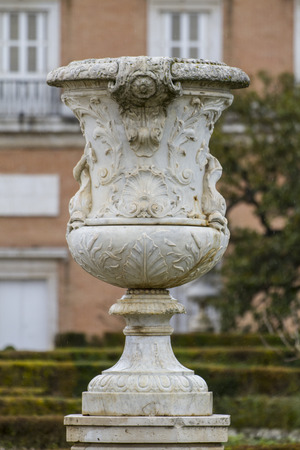 Ornamental fountains of the Palace of Aranjuez, Madrid, Spain. photo