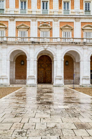 Main facade.Palace of Aranjuez, Madrid, Spain.