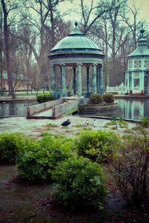 chinoiserie.Ornamental fountains of the Palace of Aranjuez, Madrid, Spain. photo
