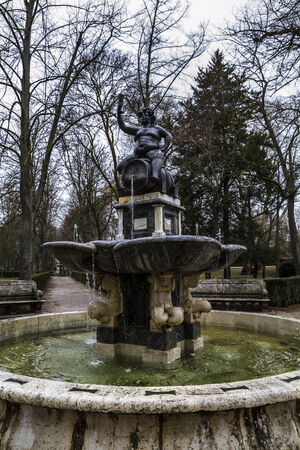 Baco.Ornamental fountains of the Palace of Aranjuez, Madrid, Spain photo
