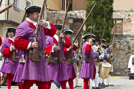 musket: Succession  War September 4, 2010 in Brihuega, Spain Editorial