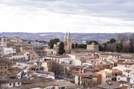 Toledo, imperial city. View from the wall, roof of house photo