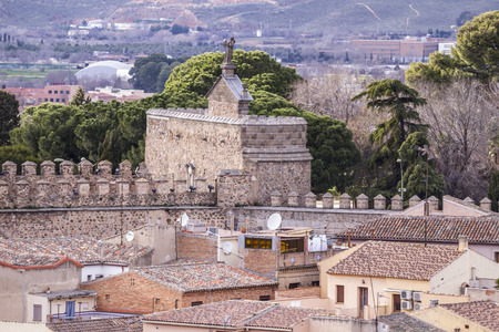 toledo town: Toledo, imperial city. View from the wall, roof of house