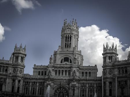 gran via: Gran Via, street in Madrid, capital of Spain, Europe.
