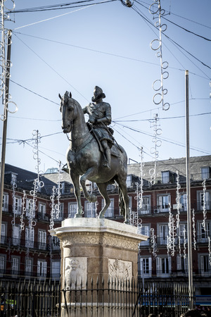 Plaza Mayor, Image of the city of Madrid, its characteristic architecture