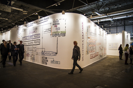 museum visit: ARCOmadrid contemporary art fair  begins its 33rd edition. Madrid, Spain