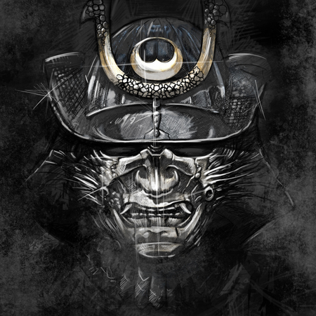 ronin: illustrations from a Japanese samurai warrior mask