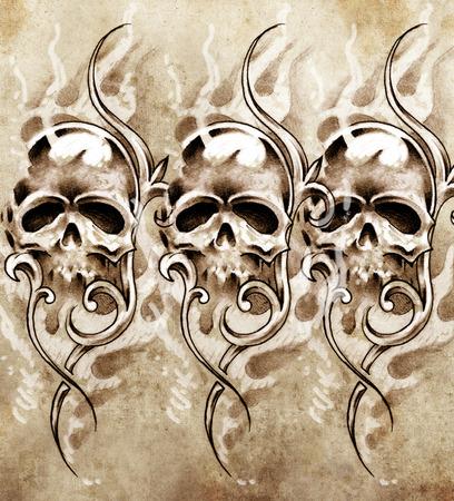 Sketch of tattoo art, handmade illustration illustration