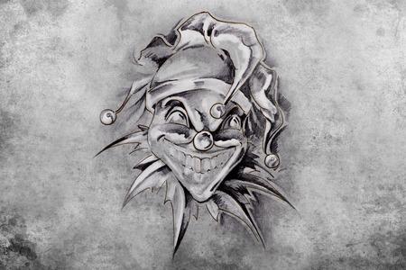 tattoo illustration, handmade draw over vintage paper Stock Illustration - 26978526