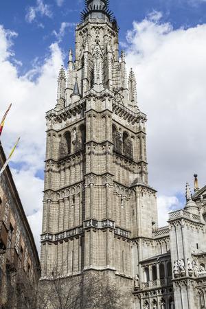 Toledo Cathedral facade, spanish church Stock Photo