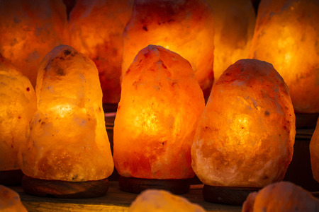 decorative lamp and energetic salt photo