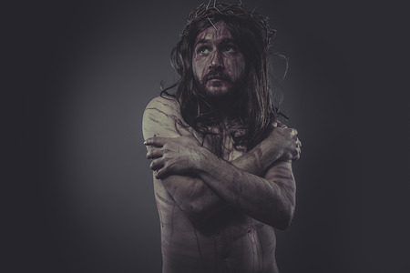 jesus christ, jesus of nazareth, representation of Calvary photo