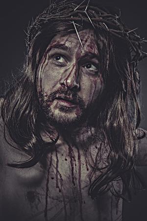 jesus face: jesus christ, jesus of nazareth, representation of Calvary