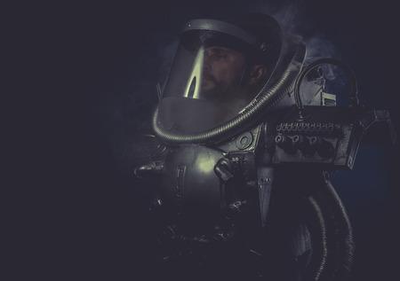 man with robotic armor, Starfighter photo