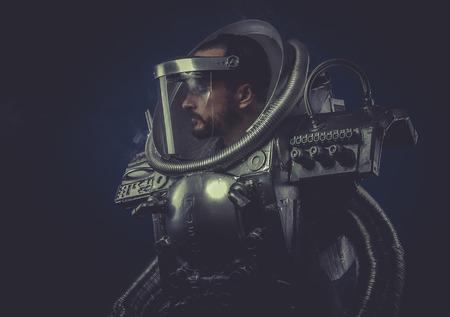 Virtual man with robotic armor, Starfighter photo