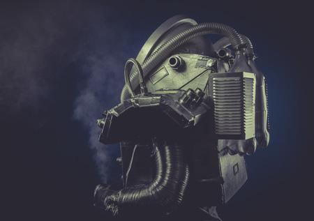 Scifi, man with robotic armor, Starfighter photo