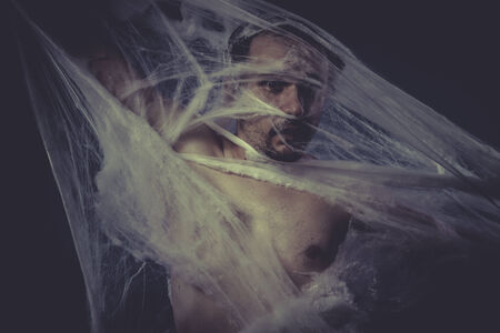 man trapped: Depression, Man trapped in a spider web
