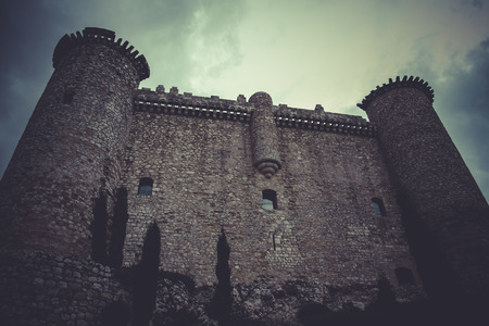 Fortification, Medieval castle, spain architecture Editorial
