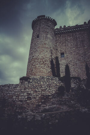 Tower, Medieval castle, spain architecture