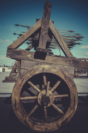catapults: Medieval siege weapons, crossbows, onagers, catapults and battering rams