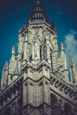 Toledo Cathedral facade, spanish church photo
