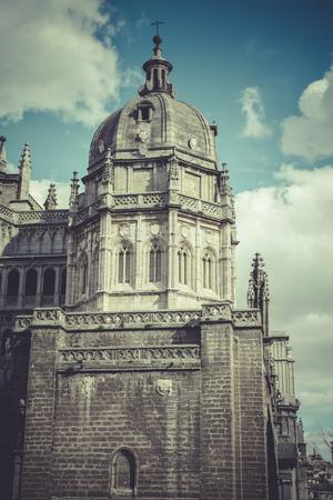Toledo Cathedral facade, spanish church photo