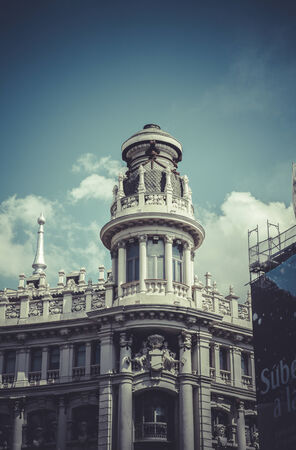 Bank, Image of the city of Madrid, its characteristic architecture photo