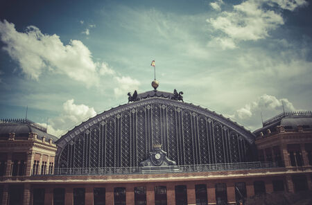 Atocha train station, Image of the city of Madrid, its characteristic architecture photo