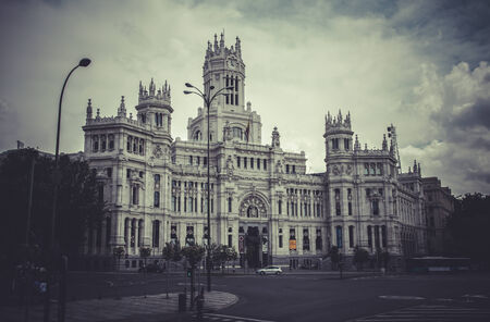 gran via: Gran via, Image of the city of Madrid, its characteristic architecture Editorial