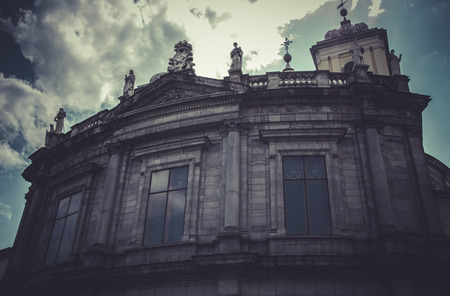 Church, Image of the city of Madrid, its characteristic architecture photo