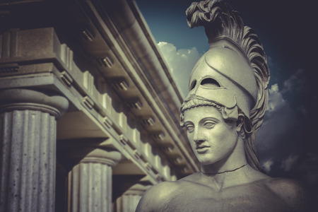 ギリシャの政治家 Pericles、古典的な彫刻のバスト 写真素材