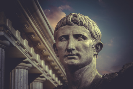 Statue of Julius Caesar Augustus in Rome. Roman sculpture photo
