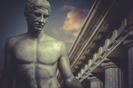 greek gods: Greek Sculpture, hero apollo, classical statue