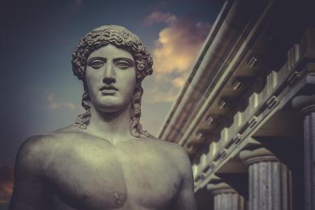 Greek Sculpture, Statue of Hercules Foto de archivo