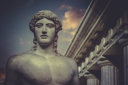 greek gods: Greek Sculpture, Statue of Hercules Stock Photo