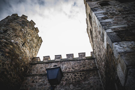 toledo town: walls of the city of Toledo in Spain, walled town