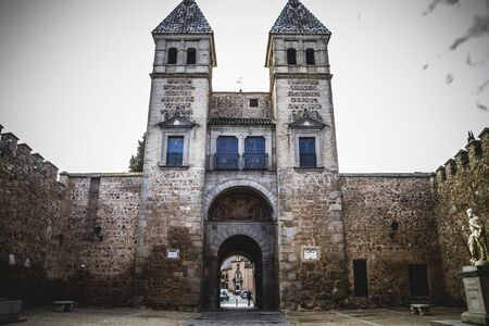 toledo town: fort, walls of the city of Toledo in Spain, walled town