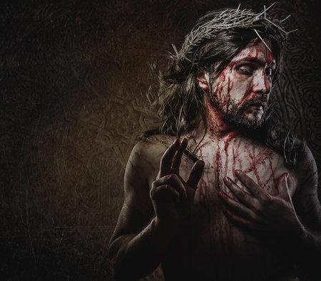jesus, representation of Calvary, passion photo