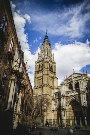 Cathedral facace, Tourism, Toledo, most famous city in spain photo