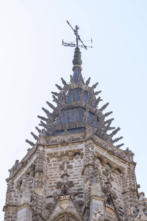 facade of the Cathedral of Toledo, Spain photo