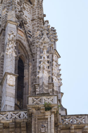 toledo town: heritage, facade of the Cathedral of Toledo, Spain Stock Photo
