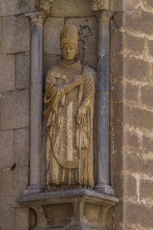 christian, facade of the Cathedral of Toledo, Spain photo