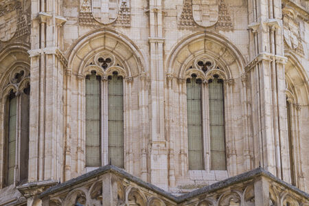 toledo town: christian, facade of the Cathedral of Toledo, Spain