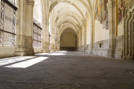 toledo town: Cloister of the Cathedral of Toledo in Spain